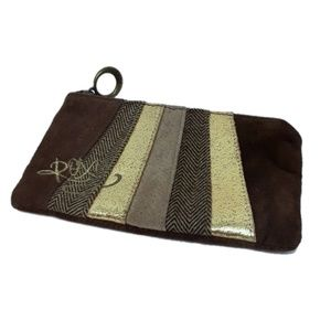 ROXY   Soft Suede Leather Clutch Coin Makeup Bag